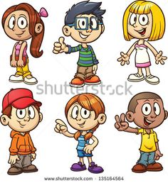Find Cute Cartoon Kids Vector Clip Art stock images in HD and millions of other royalty-free stock photos, illustrations and vectors in the Shutterstock collection. Kids Cartoon Characters, Cartoon Cartoon, Cartoon Faces, Cartoon Drawings, Kid Character, Character Creation, Kids Vector, Vector Art, Boy Images