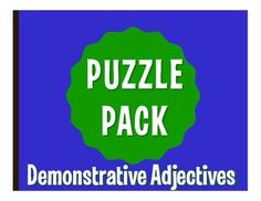 Puzzle packs are a fun, no prep way to review!  With a variety of puzzles, you can allow students to differentiate by learning style or difficulty level.  They also make great sub plans  the whole packet can easily fill an hour!  All puzzles have been solved and checked and answer keys are included.This puzzle pack includes:1 crossword1 word search w/ translation clues2 falling phrases challenge puzzles3 letter tile scramble puzzlesThis activity reviews Spanish demonstrative adjectives…
