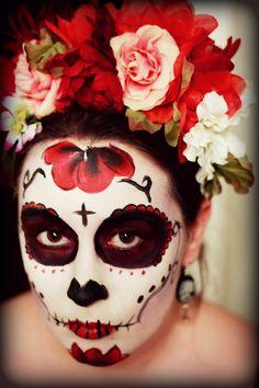 Sugar Skull Face Painting by VioletMarbles.deviantart.com on @deviantART