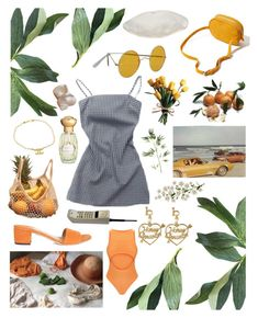 """""""summer bummer"""" by lonelydior ❤ liked on Polyvore featuring Brother Vellies, Pier 1 Imports, Betmar, Urban Outfitters, Melissa, Annick Goutal, Chanel and vintage"""