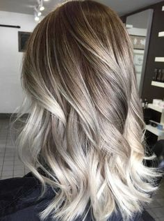 Dyed Hair Ombre, Best Ombre Hair, Ombre Hair Color, Hair Color Balayage, Blonde Color, Brown Hair Colors, White Blonde, Brown Blonde, Ash Brown