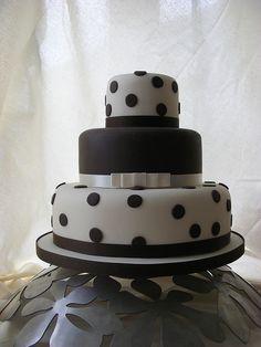 spotty chocolate wedding cake by sarah288, via Flickr