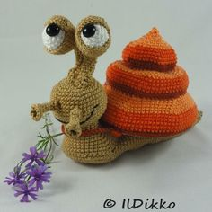 New IlDikko amigurumi pattern: Sydney the Snail :)
