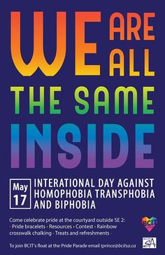 International Day Against Homophobia Transphobia & Biphobia Pride Parade, International Day, Event Organization, Buy Tickets, The Outsiders, Words, Lgbt, Random, Casual