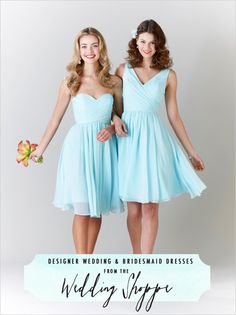 How awesome are the @wedding chicks! We just love this post they did on us and our #KennedyBlue dresses!!