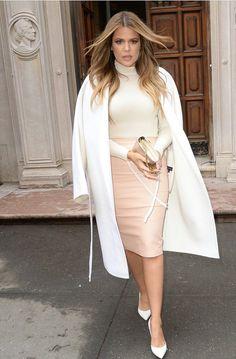 Khloe Kardashian wearing our Bardot Leatherette skirt #khloekardashian #bardot #KUWTK