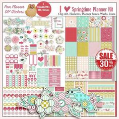 SALE Planner Kit Spring Printable Stickers Kit Birds | Etsy