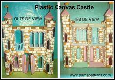 Plastic Canvas Castle Dollhouse for fashion dolls, pdf pattern