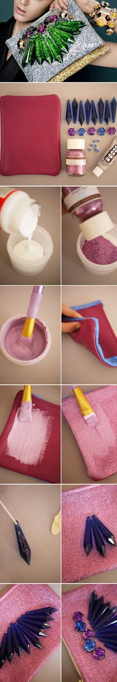 DIY glitter diamond purse