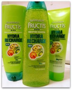 Garnier Fructis Hydra Recharge. I recomend using this, it works so well for my hair. I got both at Ulta for only $4.99