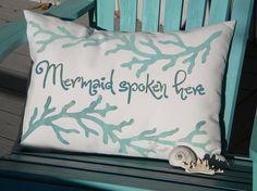 Mermaid Spoken Here indoor outdoor handpainted by crabbychris, $38.00