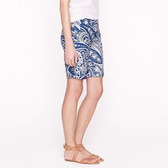 "9"" short in antique paisley - novelty - Women's shorts - J.Crew"