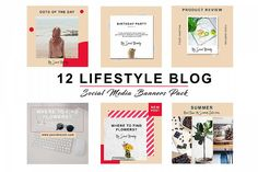 FREE  Peach Lifestyle Social Pack https://designbundles.net/free-design-resources/free-peach-lifestyle-social-pack/rel=AJsh2y