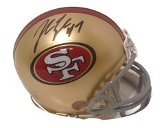John Lynch Autographed SF 49ers Riddell Mini Football Helmet, Proof. This is a brand-new John Lynch signed San Francisco 49ersRiddell mini football helmet. John signed the helmetin black sharpie.Check out the photo of John Lynch signing for us. ** Proof photo is included for free with purchase. Please click on images to enlarge. Please browse our websitefor additional NFL & NCAA footballautographed collectibles.2   Notable Career Accomplishments:  San Francisco 49ers General…