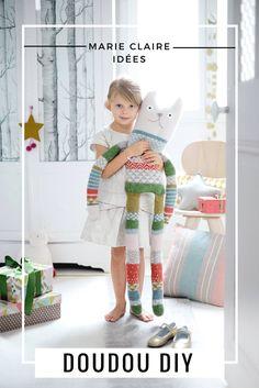 DIY enfant: tuto pour tricoter un doudou - Marie Claire Idées