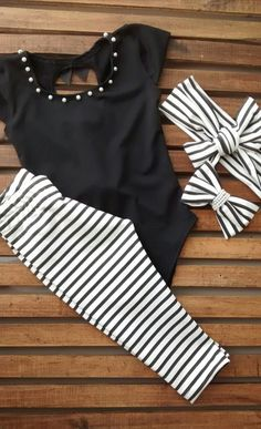 Look Branco e Preto Cute Outfits For Kids, Toddler Girl Outfits, Toddler Fashion, Kids Fashion, Fashion Outfits, Mommy And Me Shirt, Little Girl Fashion, Baby Sewing, Baby Dress