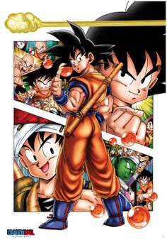 Poster Son Goku story (98x68)