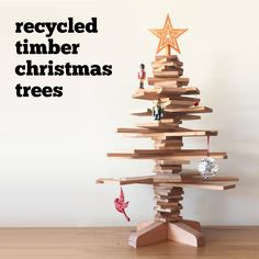 Recycled Timber Christmas Trees Melbourne - reusable, sustainable, eco friendly option!