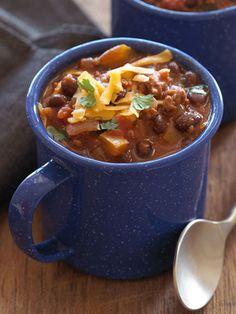 Sweet Potato Black Bean Turkey Chili - Healthy Fall Comfort Food Recipes