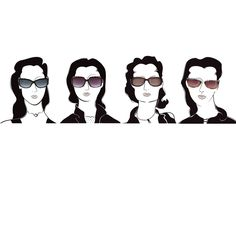 Illustrate Sunglass Styles for 4 Face Shapes by Designus