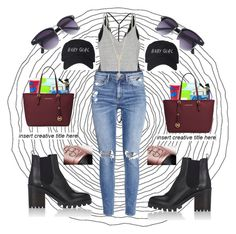 """""""❤️Swag❤️"""" by princess-eemma ❤ liked on Polyvore featuring Barneys New York, Michael Kors, River Island, H&M and EF Collection"""