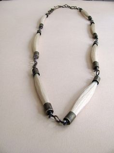 "Horse hair necklace by ""RustandRam""  Lauren Passenti Jewelry on Etsy"