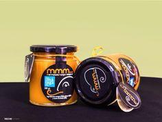 Envase 280g de mermelada de mango de málaga (mango_mmm…). Producto 100% natural y artesanal, sin colorantes ni colorantes