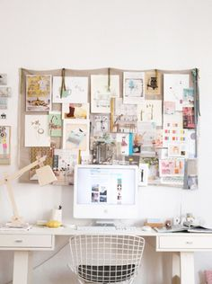 Tips for Decorating Your Dorm Room: Inspire your walls with a cool cork board and keep your workstation mess-free