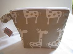 Wet Bag Medium Size in Natural/Biege Giraffe by lizzysueandher2, $22.99