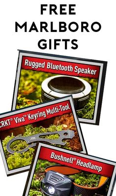 FREE Bushnell Headlamp, CRKT Viva Keyring Multi-Tool or Rugged Bluetooth Speaker From Marlboro