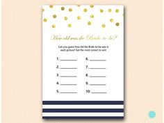 Navy Stripes and Gold Bridal Shower Games How old was the #babyshowerideas4u #birthdayparty  #babyshowerdecorations  #bridalshower  #bridalshowerideas #babyshowergames #bridalshowergame  #bridalshowerfavors  #bridalshowercakes  #babyshowerfavors  #babyshowercakes