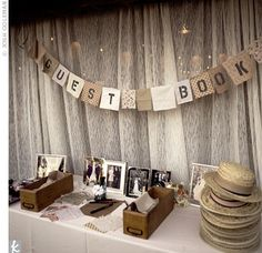 For a unique twist on the guest book, the couple had guests sign squares of fabric Ginny had collected from her time studying abroad. The bride is embroidering over the handwritten messages and plans to sew the fabric into a quilt.