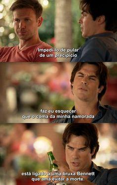 Diários de um vampiro 7X01 - Alaric e Damon