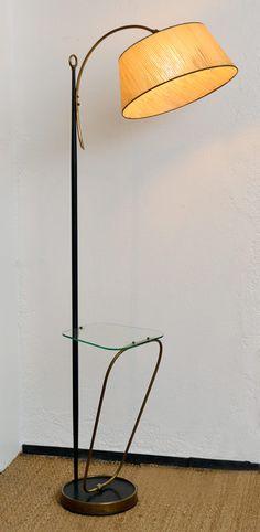 Vintage floor lamp from fifties.  www.chezcax.com #lamp #vintage #floorlamp