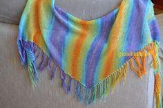 Scialle in cotone Rainbow di gioiellidiale su Etsy