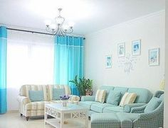 Living in a mint green living room