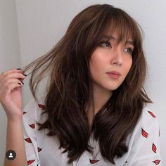 Are you searching for hair care tips? Hairstyle For Long Hair. Kathryn Bernardo Hairstyle, Kathryn Bernardo Outfits, Hot Hair Styles, Medium Hair Styles, Hair Color For Morena, Filipina Beauty, Haircuts With Bangs, Full Bangs Hairstyle, Jenner