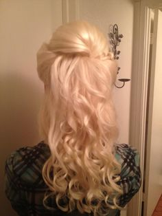 Updo by Kirstin half up half down and curls.