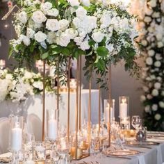 Are you thinking about having your wedding by the beach? Are you wondering the best beach wedding flowers to celebrate your union? Here are some of the best ideas for beach wedding flowers you should consider. Rose - You can't go wrong with a rose. Tall Wedding Centerpieces, Wedding Flower Arrangements, Floral Centerpieces, Floral Arrangements, Centerpiece Ideas, Gold Wedding Decorations, Candelabra Wedding Centerpieces, Blush Centerpiece, Quinceanera Centerpieces
