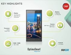 The All New OPS-50QX with mesmerizing features.   #OptimaSmart #SmartPhone #RageMobiles   Know more: http://goo.gl/usOALk
