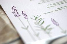 lilac wedding invitations | ... Lavender Letterpress Wedding Invitations2 550x368 Rosemary + Lavender