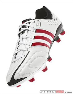 adidas adipure 11Pro TRX FG Soccer Cleats - Running White and Vivid Red. 427e4b5647f39
