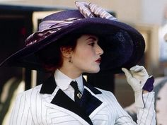 Kate Winslet in Titanic, a very grand hat.