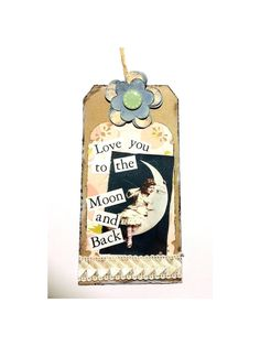 Vintage Styled Gift Tag Hang Tag Love Party by TaunyasButtonsnBows
