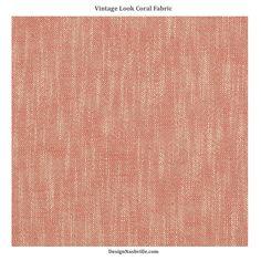 Vintage Look Coral Fabric
