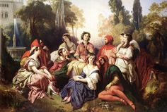 Franz Xavier Winterhalter (1805-1873)The Decameron