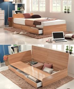 Ideas bedroom bed storage desks for 2019 Kids Bedroom Furniture, Home Furniture, Furniture Design, Bedroom Decor, Furniture Stores, Modern Furniture, Bed Frame With Storage, Bed Storage, Storage Hacks