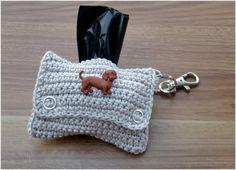 Poop Bag Dispenser  Dog Mess Bag Dispenser by Wollsinfonie on Etsy, €8.00