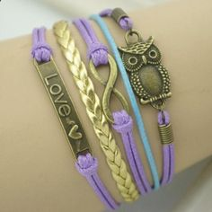Clothes for Romantic Night - Chic Night Owl and 8 Embellished Purple Wrap Bracelet For Men and Women - If you are planning an unforgettable night with your lover, you can not stop reading this!