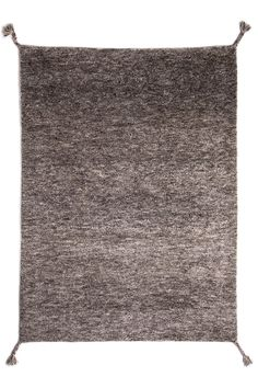 Woodnotes' hand knotted wool carpet Uni col. grey
